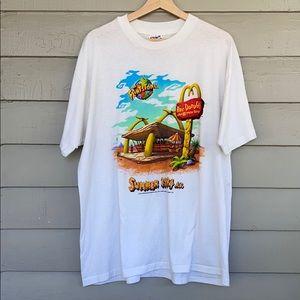 Vtg 1994 Flintstones McDonalds Graphic Tee